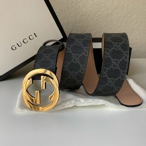 -New Gucci Belt Supreme GG Marmot Leather